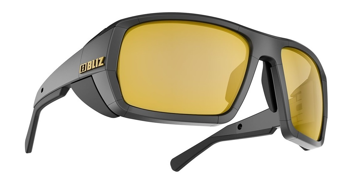 Bliz Polarized w gold mirror lens Peak Polarized Black