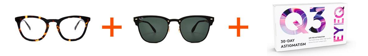 Abonnemang med glasögon och linser