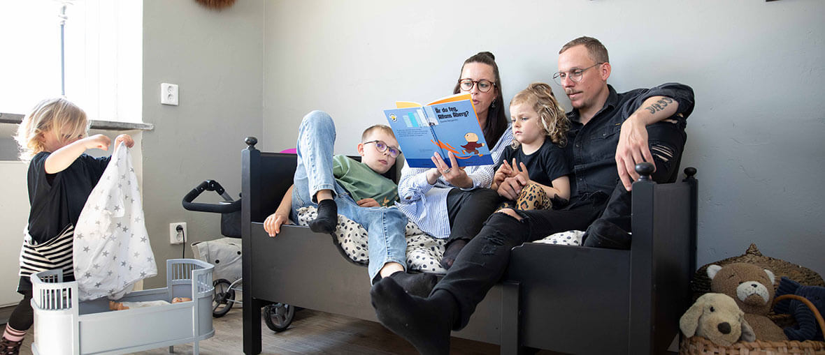 Familjen Andersson-Bernmarker har glasögonabonnemang