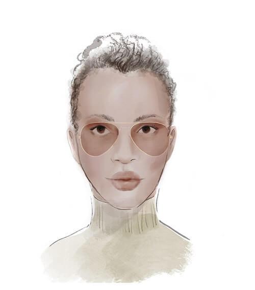 Solglasögon för avlångt ansikte