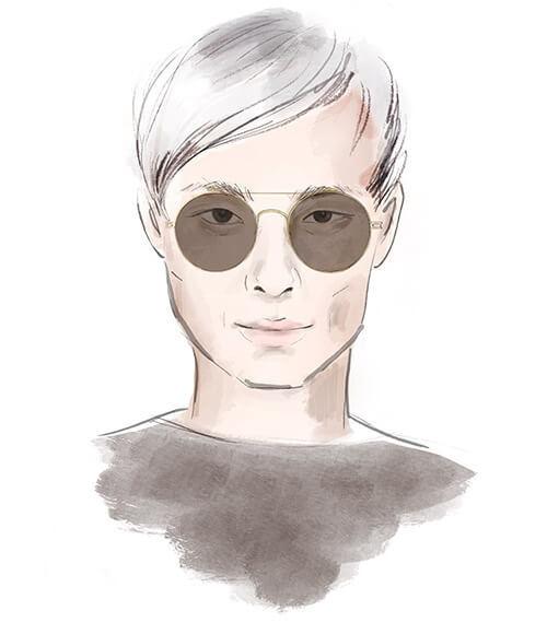 Solglasögon för fyrkantigt ansikte
