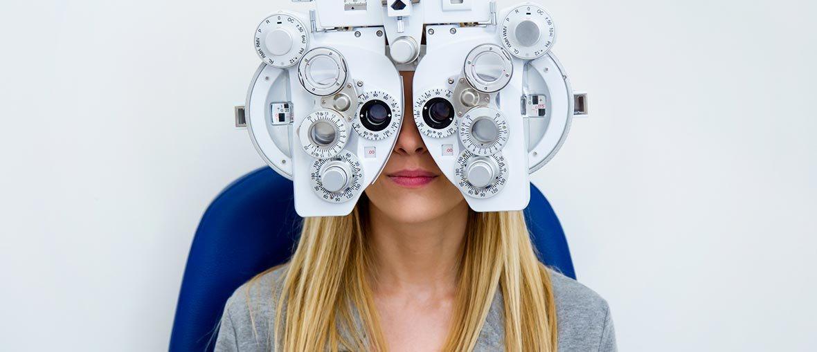 skjeve hornhinner synstest