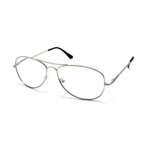 Readers Aviator Metal Silver