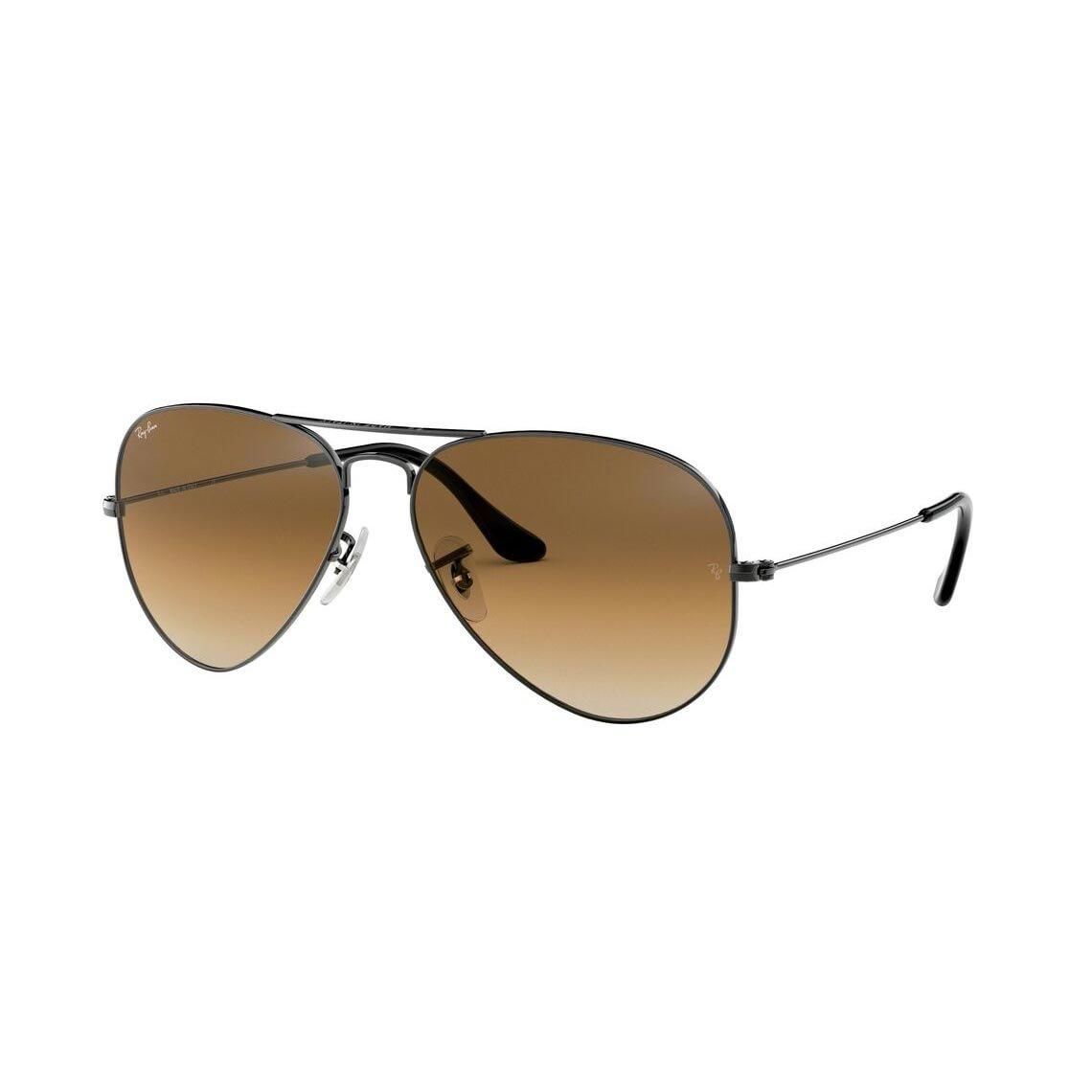 brun gradient aviator solbriller ray ban